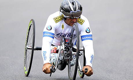 Alex Zanardi Paralympics 2012 cycling hand bike