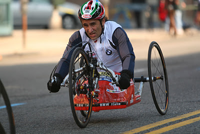 Alex Zanardi racing a hand-bike