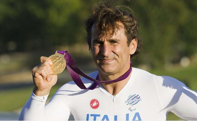 Alex Zanardi won gold medal at London Paralympics