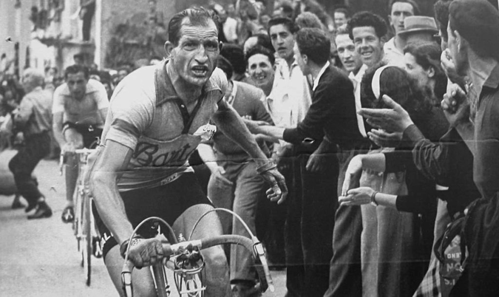 Gino Bartali and Fausto Coppi behind