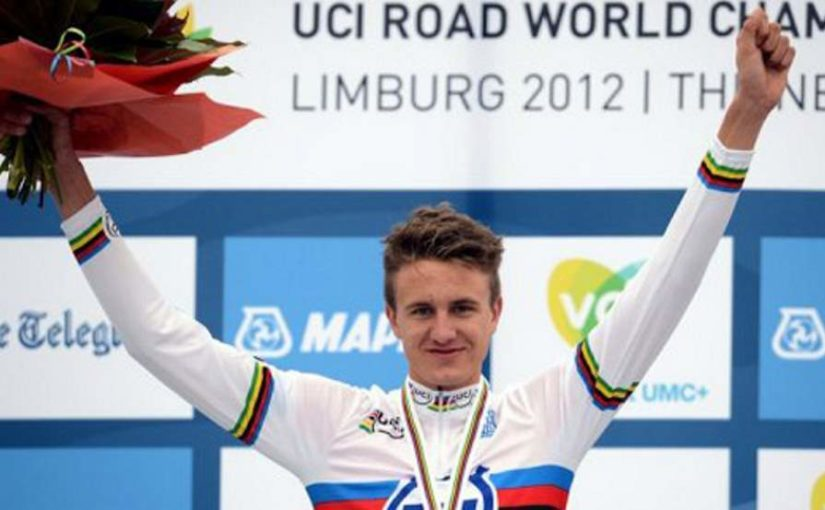 Oskar Svendsen won UCI Worlds 2012 Junior Men Time Trial title in Limburg