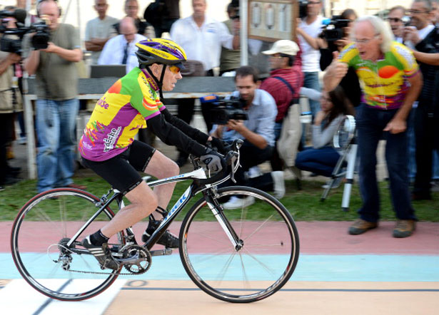 100-year-old Robert Marchand sets 100km cycling record