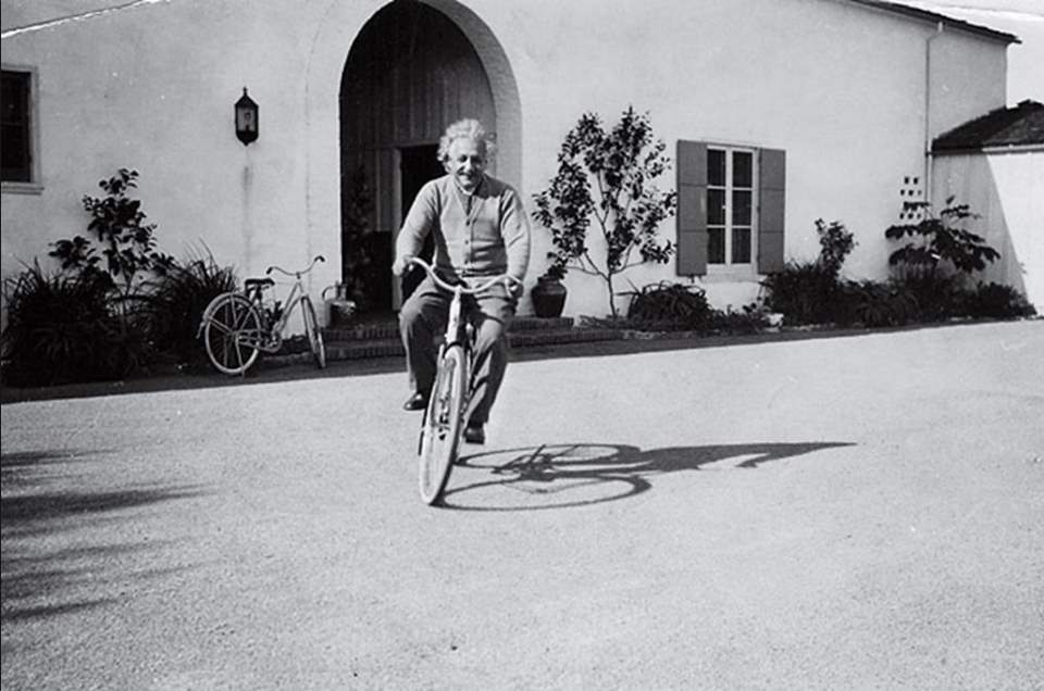 Best Cycling Quotes: Albert Einstein, riding a bike