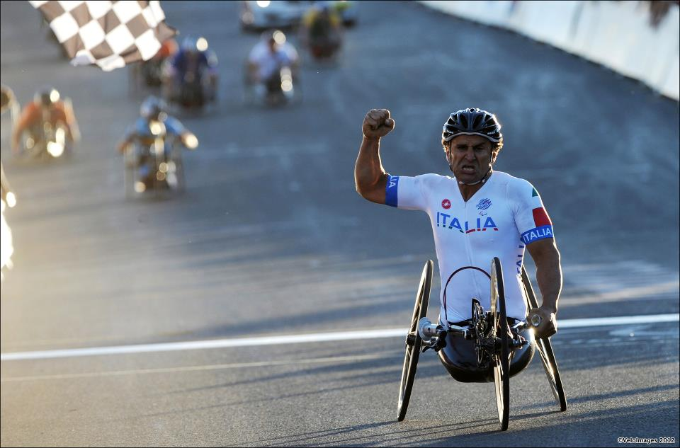 Alex Zanardi won his second gold medal in London 2012 Paralympics.