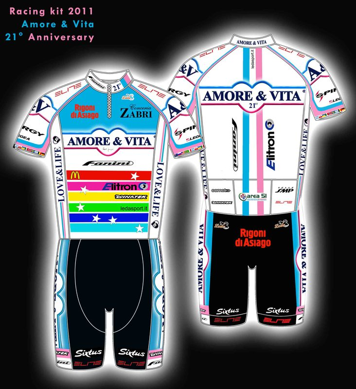 Top 10 worst cycling jerseys: Amore&Vita 2011