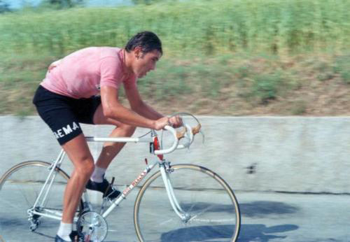 Eddy Merckx during 1969 Giro d'Italia