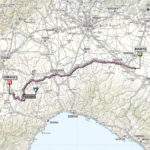 Giro d'Italia 2013 stage 13 map