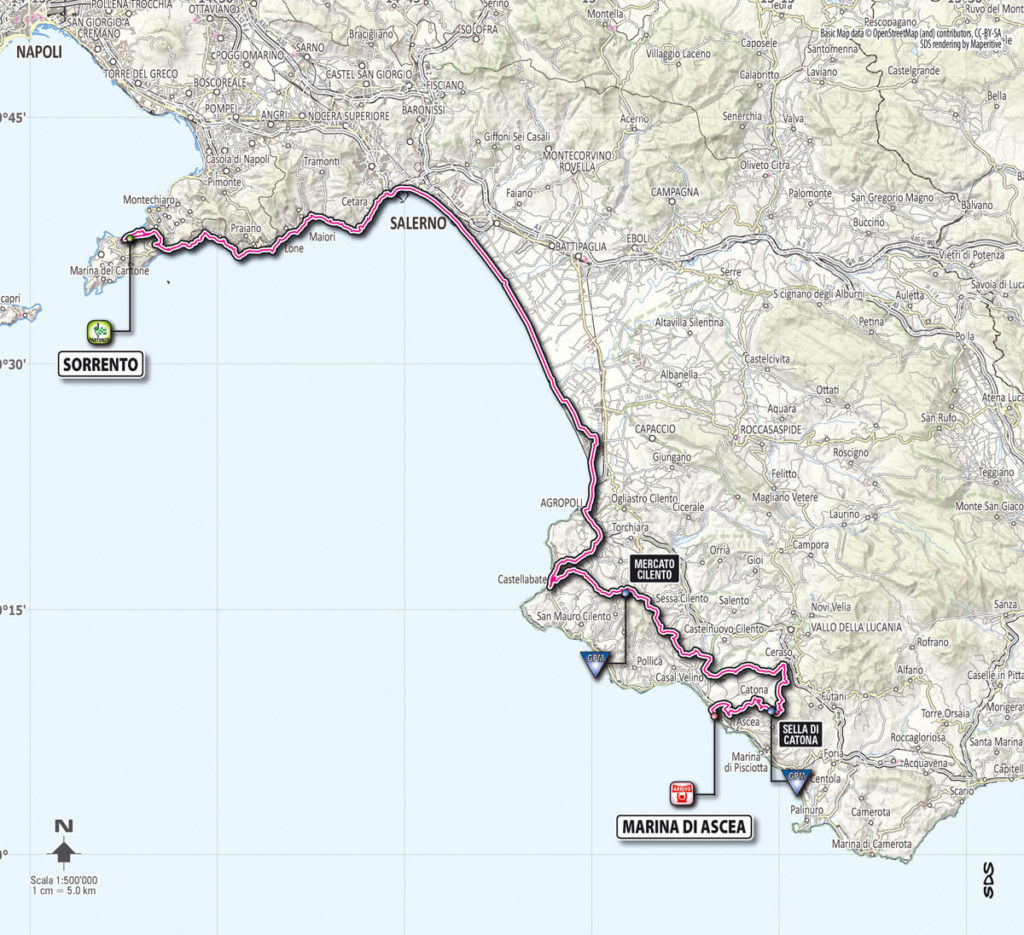 Giro d'Italia 2013 stage 3 map