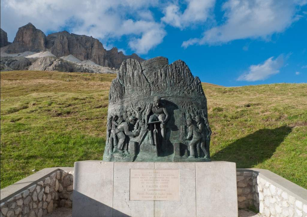 Fausto Coppi memorial at Passo Pordoi