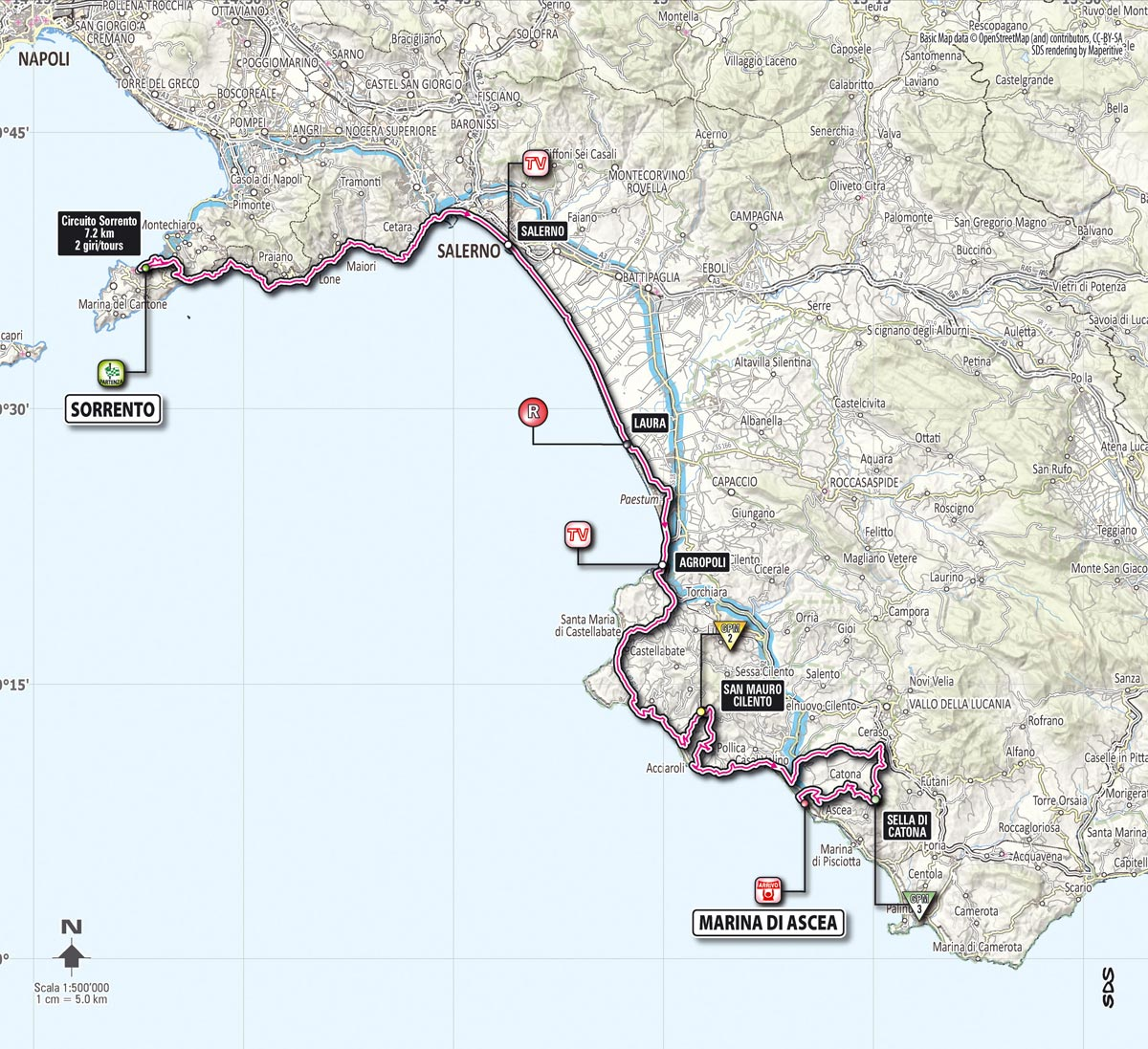 Giro d'Italia 2013 Stage3 Map