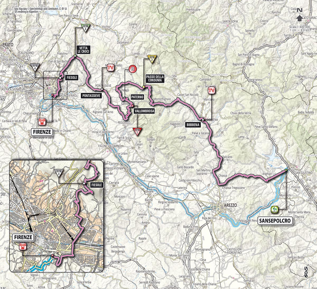 Giro d'Italia 2013 Stage 9 map