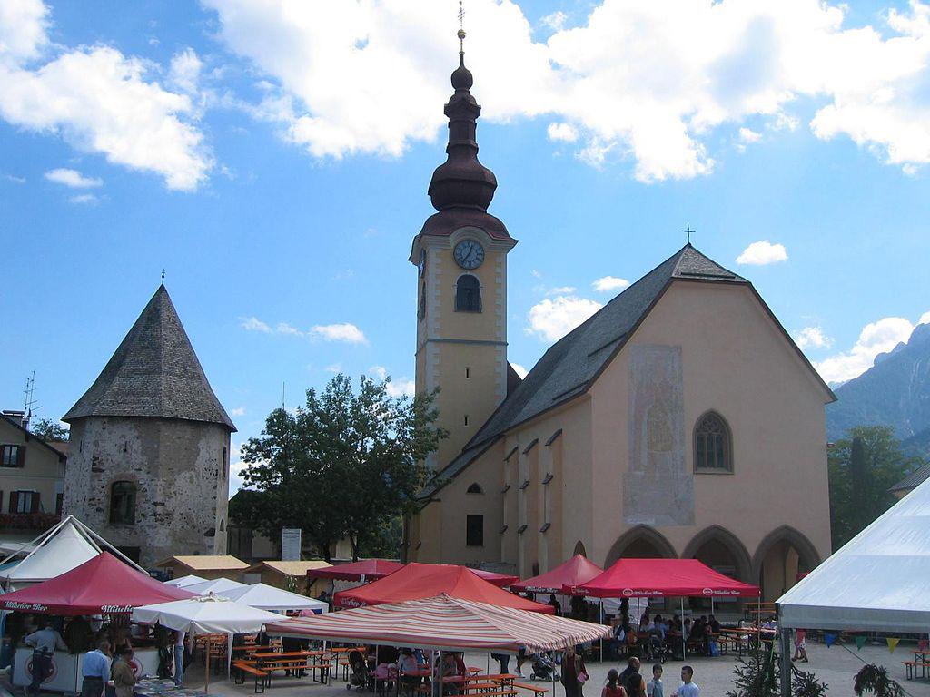 Main square of Tarvisio