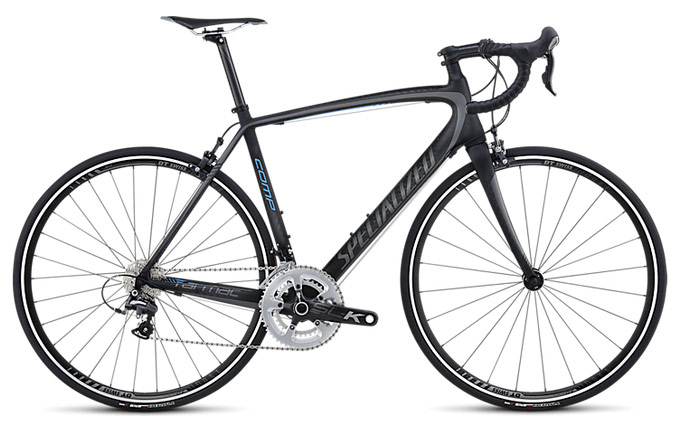 Specialized Tarmac 2013 Comp Mid Compact Satin/Charcoal/Blue