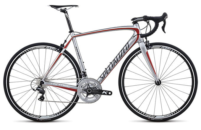 Specialized Tarmac SL4 Expert Mid Compact Silver/Red/Charcoal