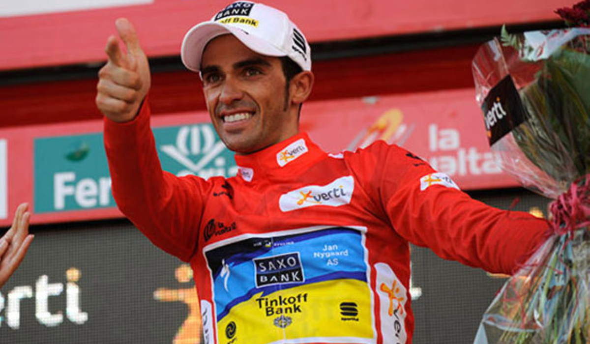 Alberto Contador, the winner of Vuelta a España 2012