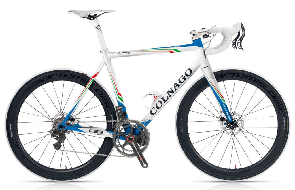 Colnago C59 Disc 2013 (White/Blue/Italian Flag), Campagnolo EPS