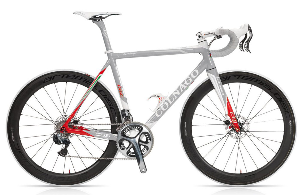 Colnago C59 Disc 2013 (Team Edition Carbon/White Graphics), Di2