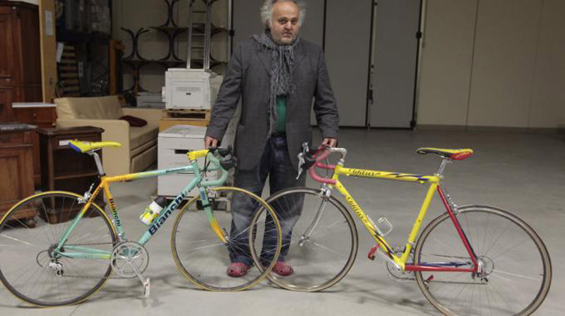 Two bicycles used by Marco Pantani in the Tour de France