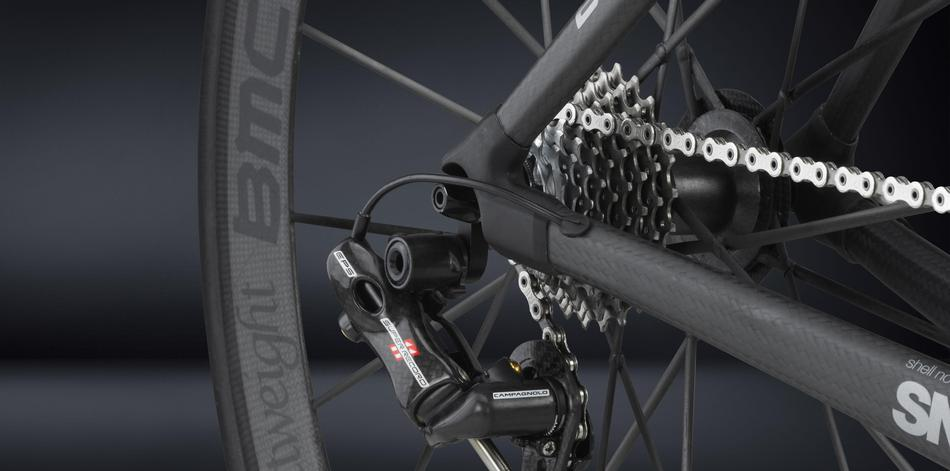 BMC impec Campagnolo Super Record EPS, cogset and rear derailleur