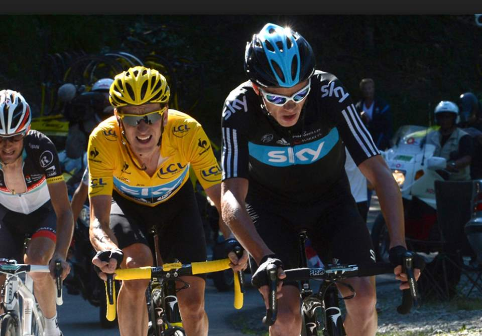 Chris Froome and Bradley Wiggins, Tour de France 2012