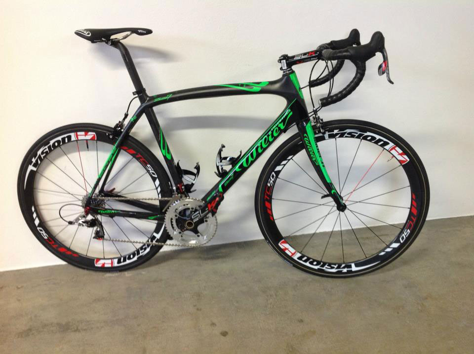 Wilier Triestina Zero7 Green Fluo, Team Colombia