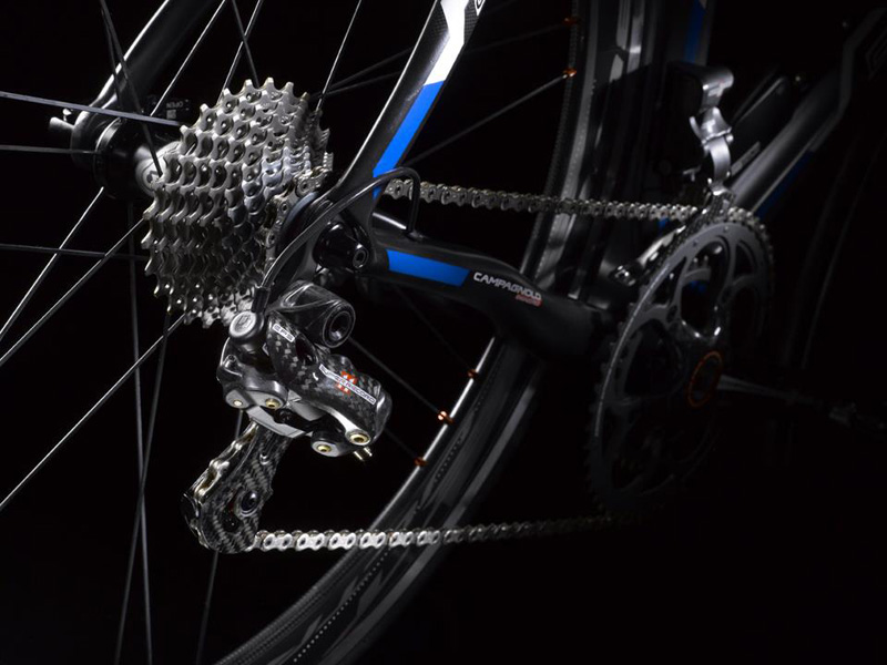 Campagnolo Super Record EPS electronic transmission (view from rear)