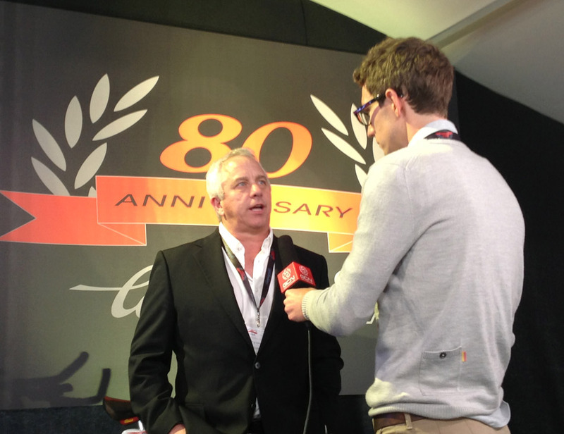 Greg LeMond at Campagnolo 80th anniversary celebration