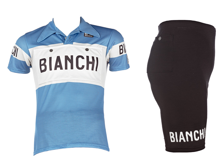 Bianchi classic/retro short sleeve jersey and shorts