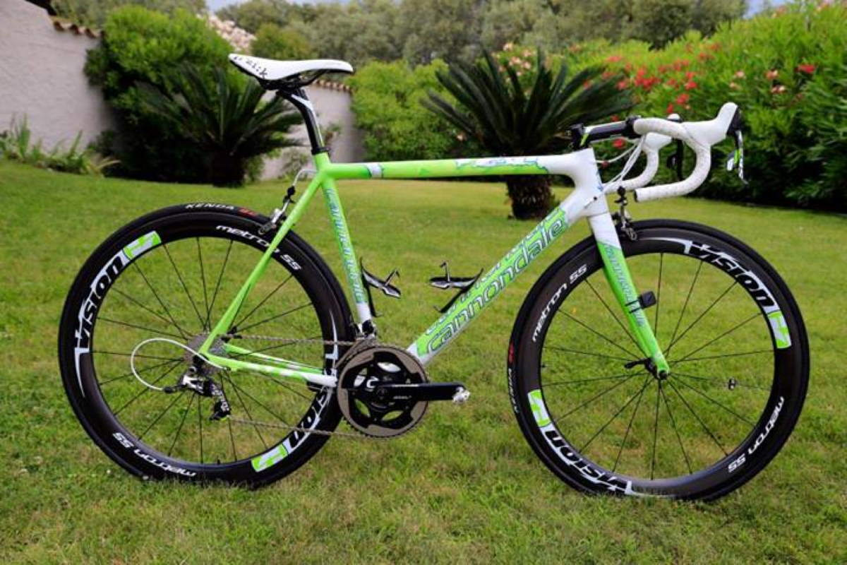 "Peter Sagan's Cannondale SuperSix Evo Tour de France 100th special edition: ""The Hulk"""