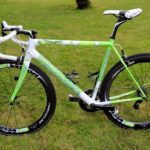 "Peter Sagan's Cannondale SuperSix Evo Tour de France 100th special edition ""The Hulk"", side view"