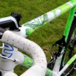 "Peter Sagan's Cannondale SuperSix Evo Tour de France 100th special edition ""The Hulk"", top tube"