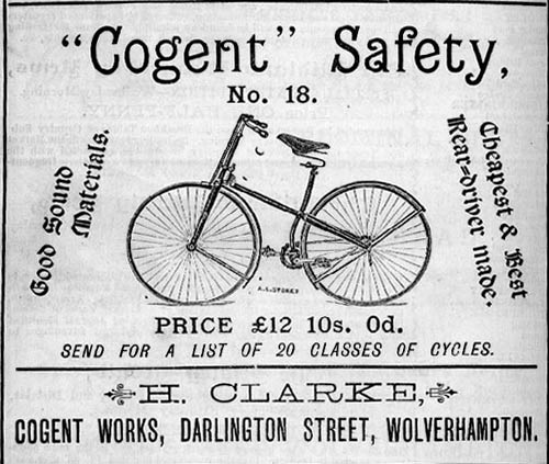 Safety bicycle, 1887