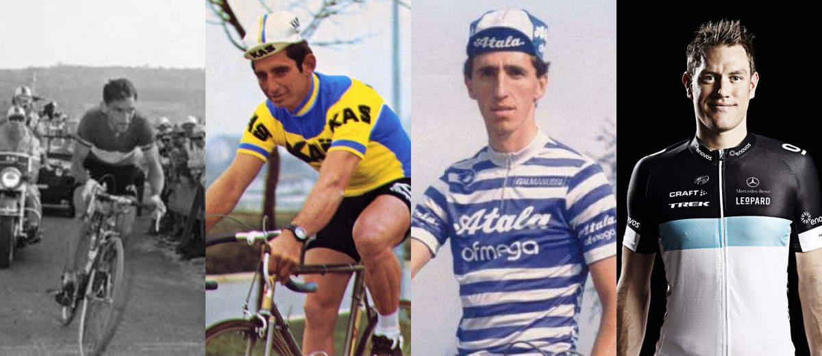 Ponsin, Santisteban, Ravasio and Weylandt - four cyclists who died at the Giro d'Italia