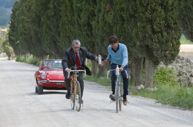 Faustino Coppi and Andrea Bartali reproducing the bottle photo - 2