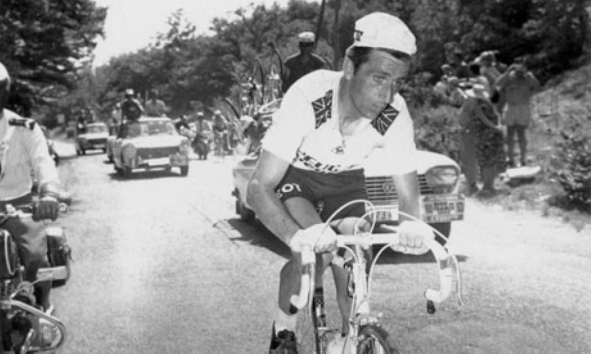 Tom Simpson climbing Mont Ventoux, 1967 Tour de France