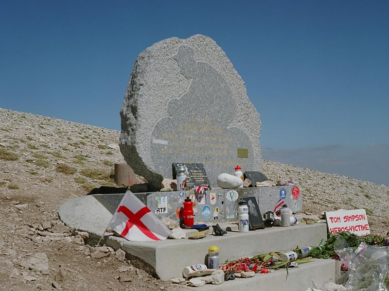 Tom Simpson memorial, Mont Ventoux