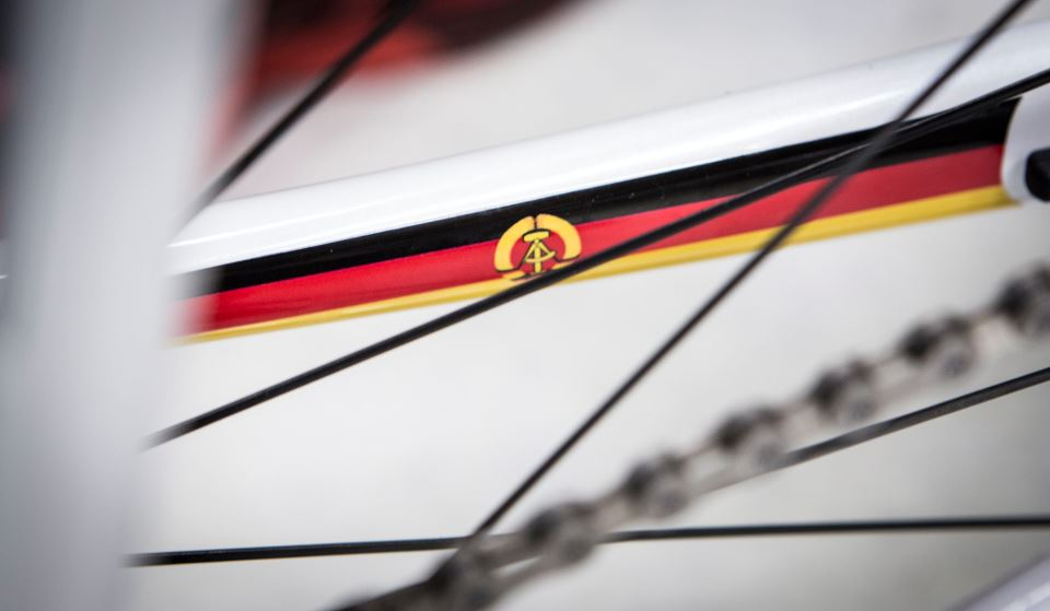 Jens Voigt's Trek Madone 7 2014, East German flag