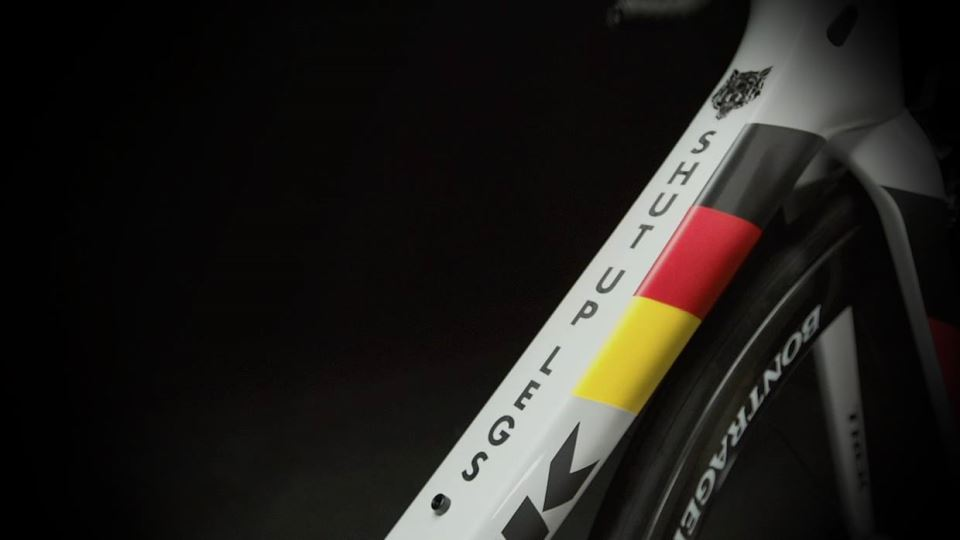 "Jens Voigt's Trek Madone 7 2014, ""shut up legs"""