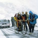 Andy Hampsten at Giro '88, climbing Passo di Gavia