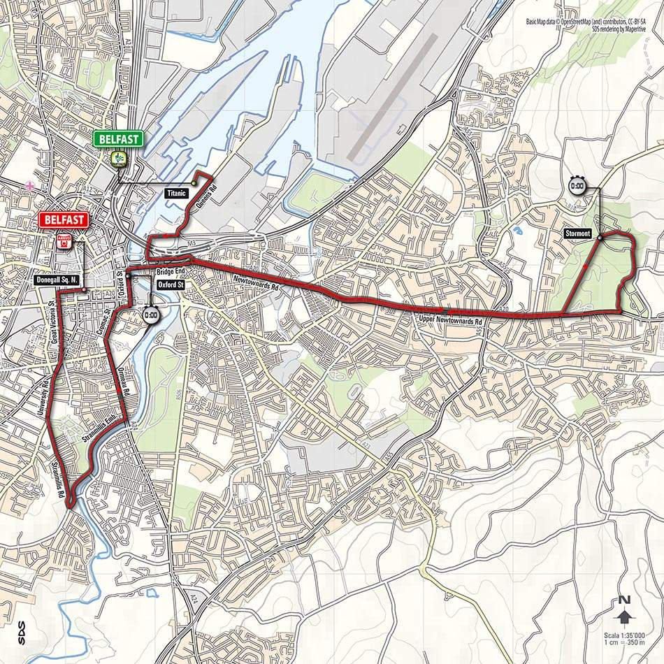 Giro d'Italia 2014 stage 1 map (new)