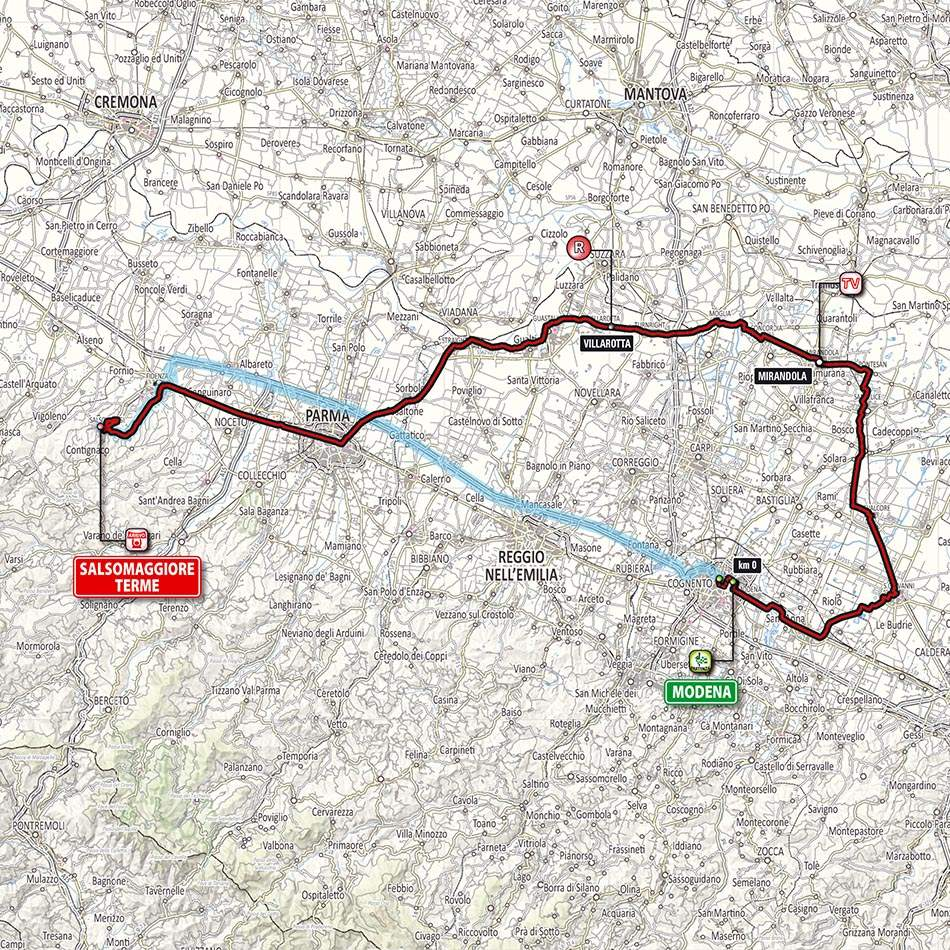 Giro d'Italia 2014 stage 10 map (new)