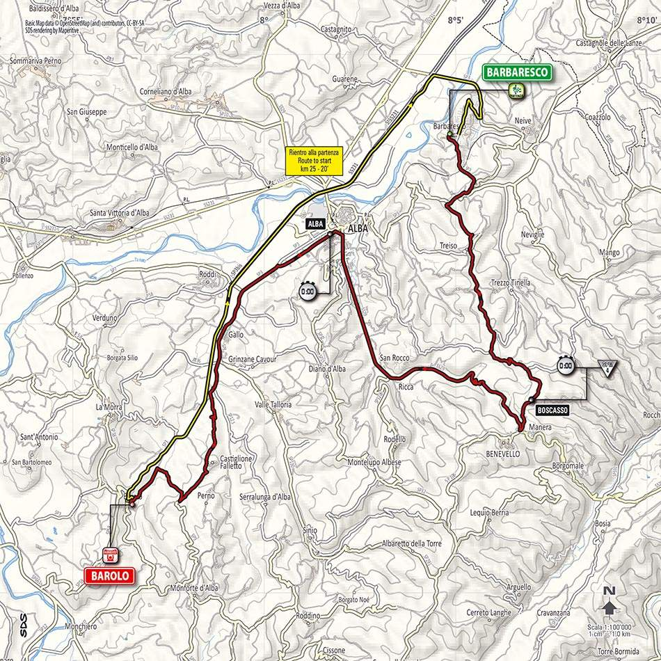 Giro d'Italia 2014 stage 12 map (new)