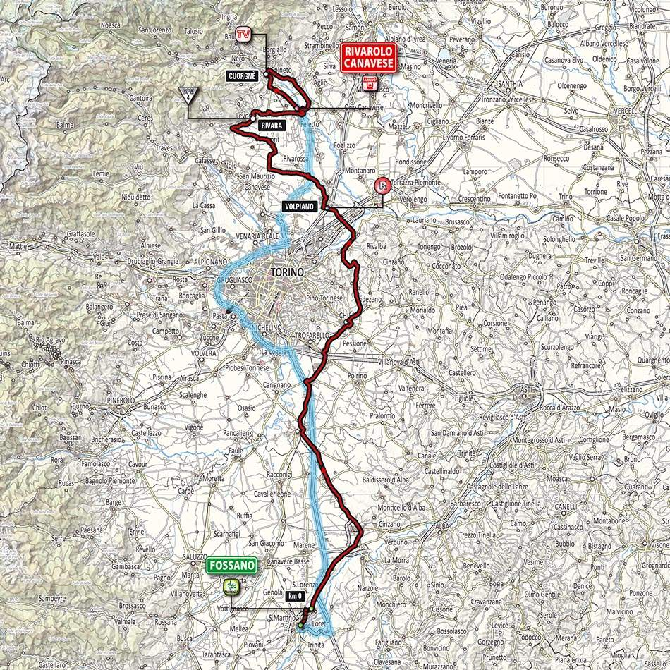 Giro d'Italia 2014 stage 13 map (new)