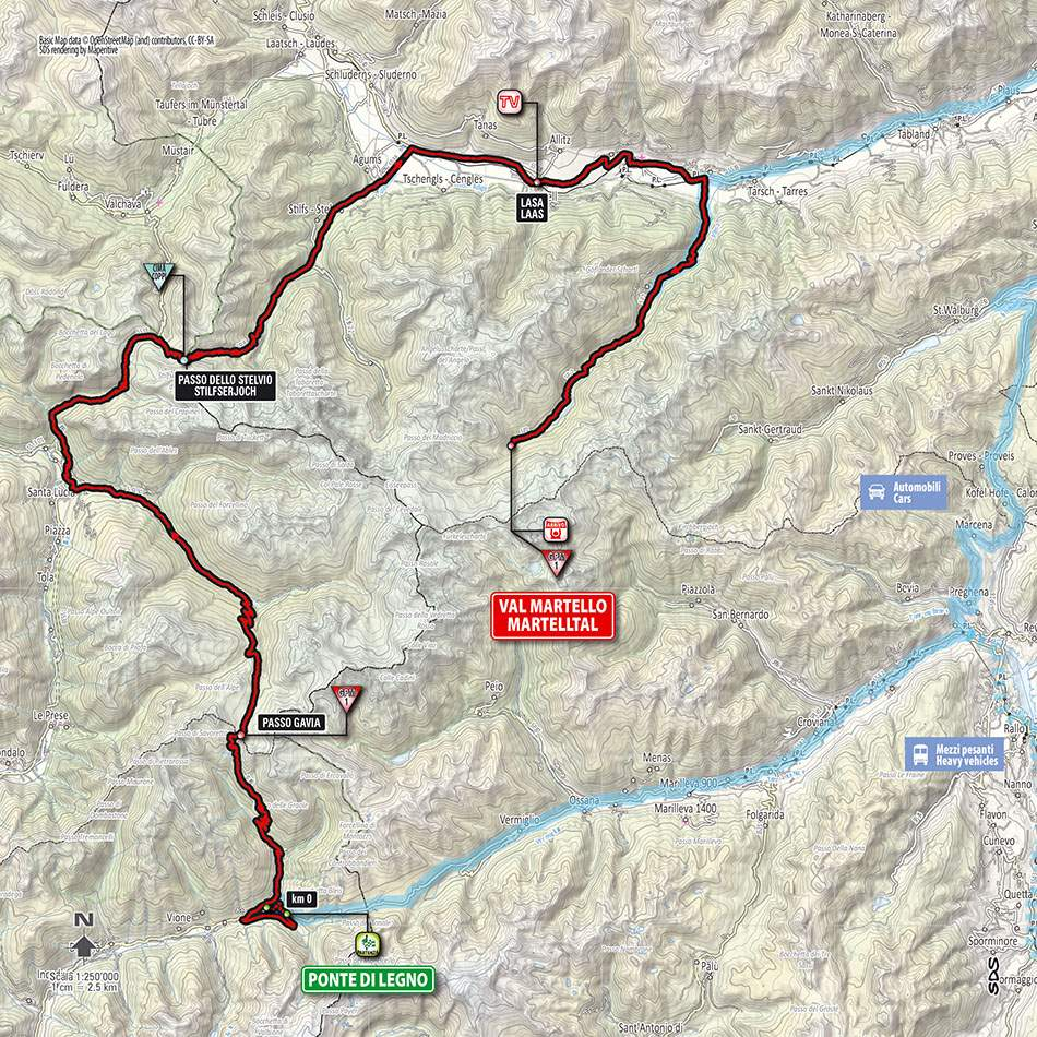Giro d'Italia 2014 stage 16 map (new)