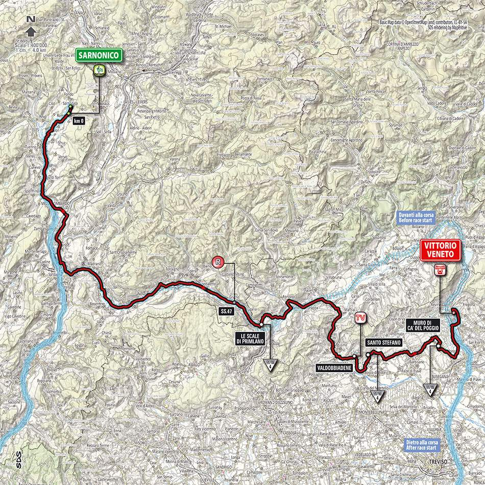 Giro d'Italia 2014 stage 17 map (new)