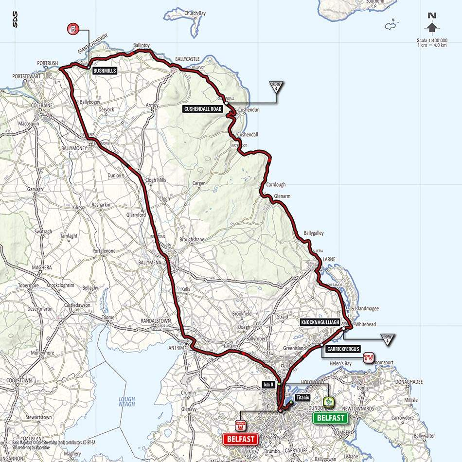 Giro d'Italia 2014 stage 2 map (new)