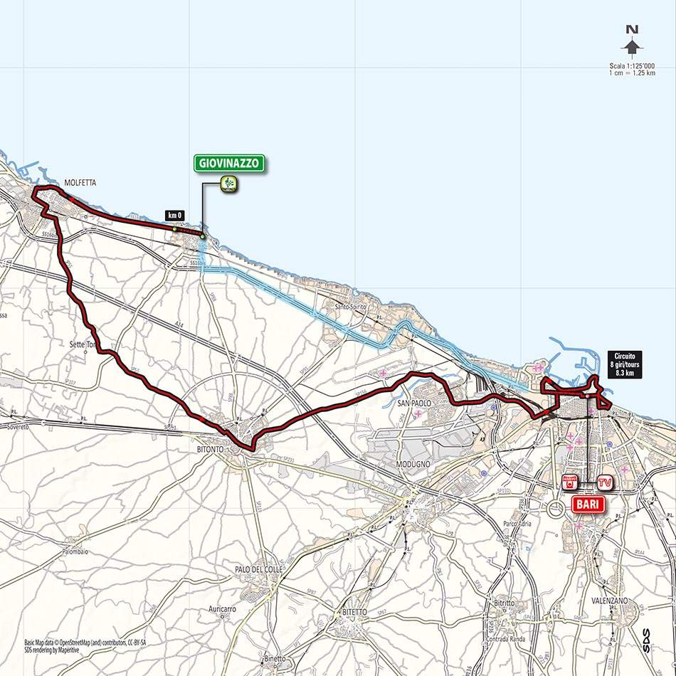 Giro d'Italia 2014 stage 4 map (new)