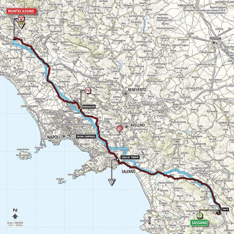 Giro d'Italia 2014 stage 6 map (new)
