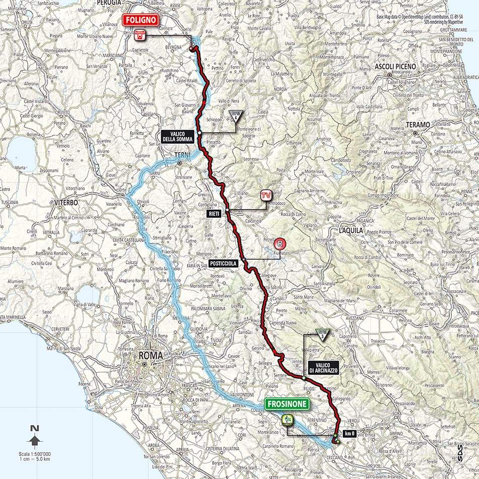 Giro d'Italia 2014 stage 7 map (new)