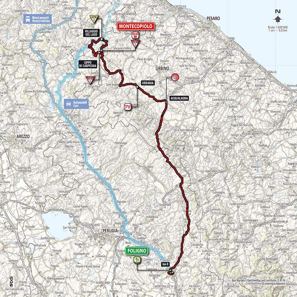Giro d'Italia 2014 stage 8 map (new)